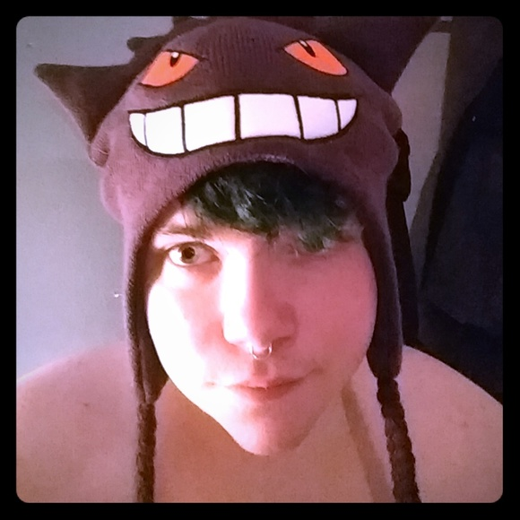 Gengar winter hat with tassels pokemon. M 5b7953511b3294835116b7fe 6a7defdb022a